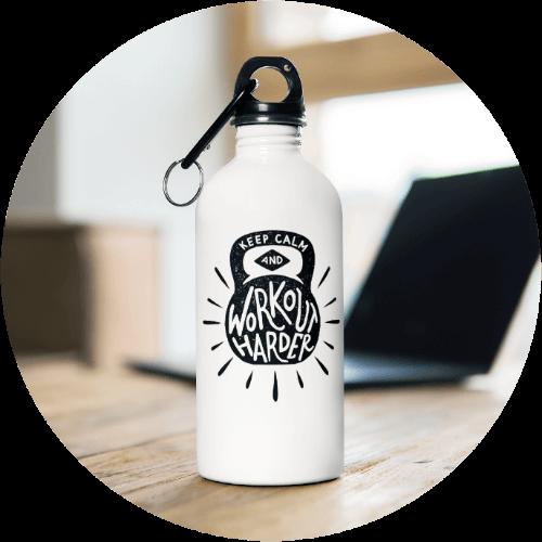 Custom Sportswear Stainless Steel Water Bottle
