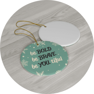 Personalized Christmas Ornament Warm Wishes