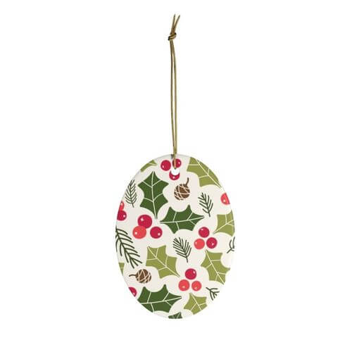 Personalized Christmas Ornaments Oval shaped Ornaments