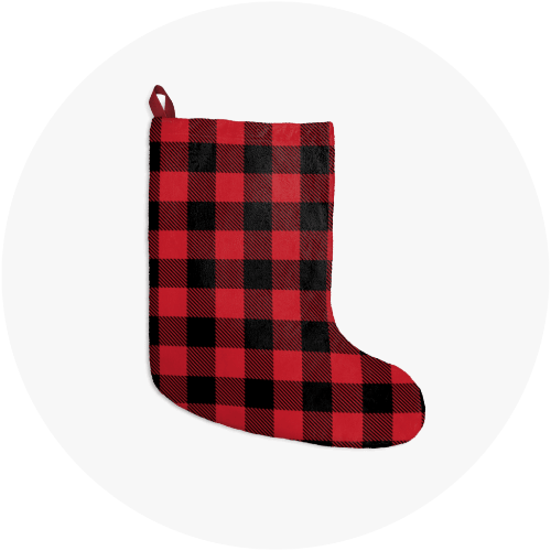 Personalized Christmas Stockings Lumberjack
