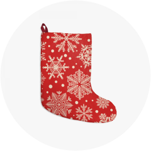 Personalized Christmas Stockings Snowflakes