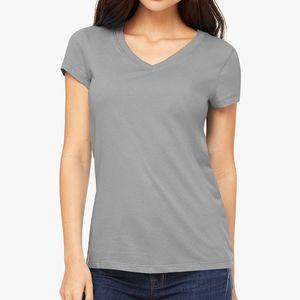 Womens Jersey Short Sleeve V-Neck Tee