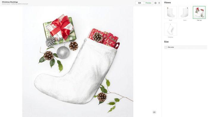 christmas stockings mockup