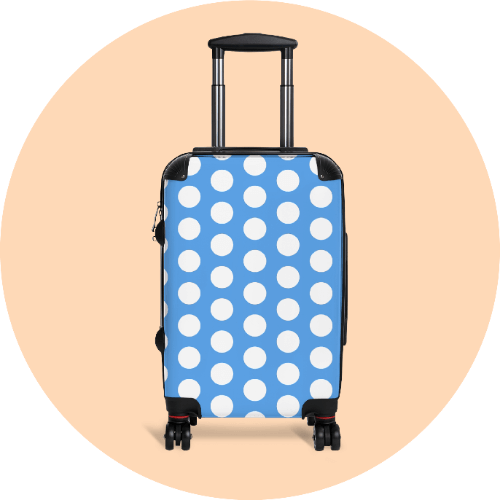 20 Print-on-Demand travel accessories for your online store - Cabin suitcase
