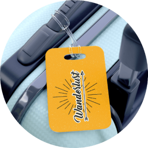 20 Print-on-Demand travel accessories for your online store - Luggage tag