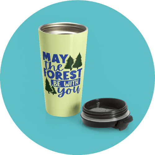 20 Print-on-Demand travel accessories for your online store - Stainless steel travel mug