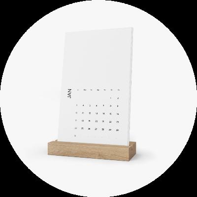 Custom Calendars Vertical Desk Calendar