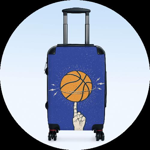 Custom Luggage Suitcases Sports Team