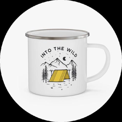 Custom Mugs Canada Enamel Campfire Mug