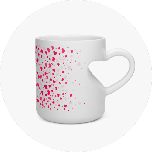 Custom Mugs Canada Heart Shape Mug