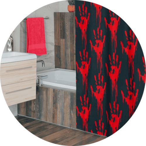 10 spooky Halloween gifts to stock your online store with - Halloween shower curtains