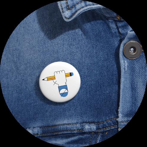 Back-to-school basics - Custom Pin Buttons