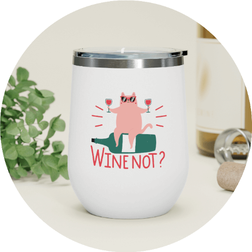 Cozy Essentials - Personalized wine tumbler