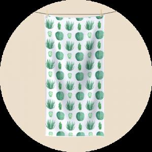 Custom polycotton towels - Botanical Design