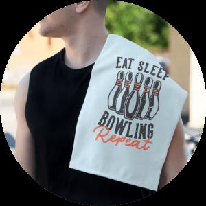 Custom rally towels - Bowling Design