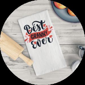 Custom tea towels - Family theme Design
