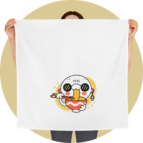 Custom tea towels - Food-themed Design