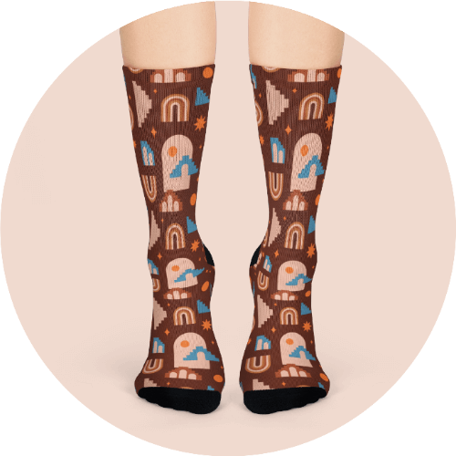 Design loungewear - AOP crew socks