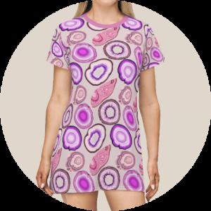 Design loungewear - All over print t-shirt dress