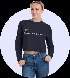 Design loungewear - Cropped sweatshirt