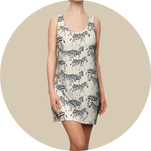 Design loungewear - Women's cut & sew racerback dress