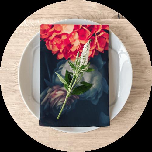 Personalized photo napkins