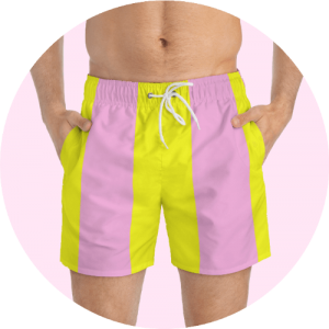 Custom Design Swim Trunks - Funky