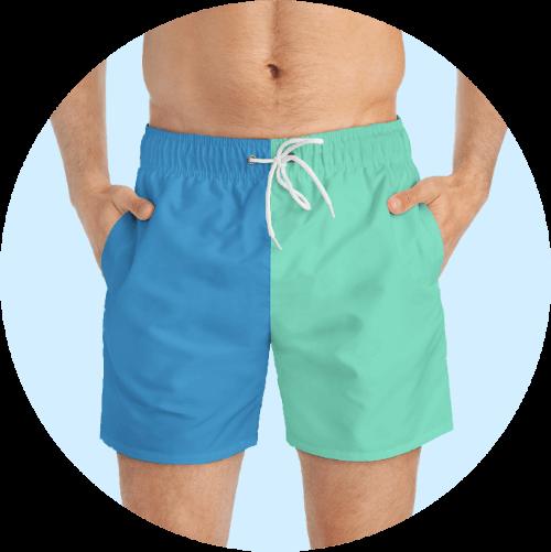 Custom Design Swim Trunks - Plain Color